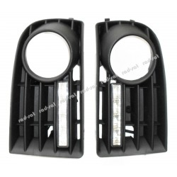 Światła do jazdy dziennej VW Golf V 2004-2007 z maskownicami (maskownica z 5 kratkami)