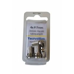 TechniSat Złączki F 7mm 4 szt. nakręcane