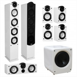 Kolumny głośnikowe Taga Platinum SLIM F-90 x2 / C-90 x1 / S-90 x4 / SW-10v2 x1 - Seria PLATINUM SLIM system 7.1 High Gloss White