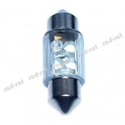 Żarówka diodowa rurkowa 4 diody LED 30mm