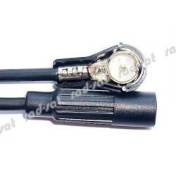 Adapter do anteny samochodowej DIN-ISO z wtykiem kątowym