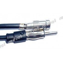 Adapter do anteny samochodowej ISO-DIN z wtykiem prostym