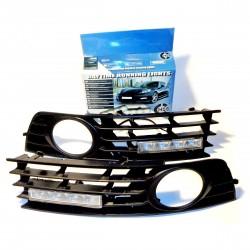 Światła do jazdy dziennej AUDI A4 2001-2005 z maskownicami (maskownica z przeciwmgielnymi)