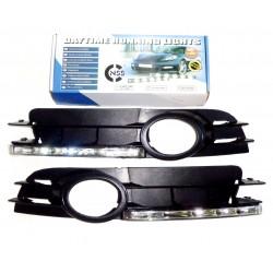 Światła do jazdy dziennej AUDI A6 C6 2004-2010r Benzyna z maskownicami (maskownica z przeciwmgielnymi)
