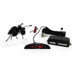 Zestaw czujników parkowania Vertex LED, 4 sensory, kolor biały