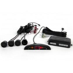 Zestaw czujników parkowania Vertex LED, 4 sensory, kolor czarny