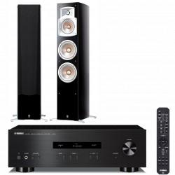 Zestaw stereo Yamaha A-S201 + kolumny głośnikowe Yamaha NS-555