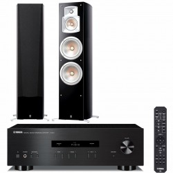 Zestaw stereo Yamaha A-S201 + kolumny głośnikowe Yamaha NS-777