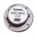 Głośnik wysokotonowy Tonsil GDWK 10/80/19 8Ω, kopułkowy z membraną z tkaniny chłodzony ferrofluidem.
