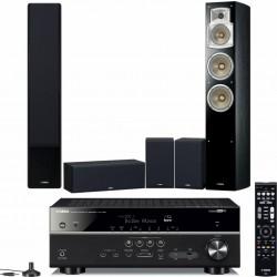 Yamaha RX-V585 + NS-F350 + NS-P350 kino domowe z MusicCast