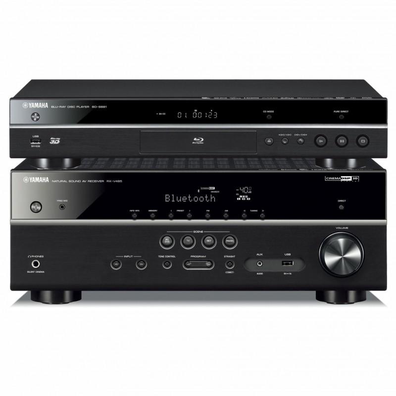 Zestaw kina domowego Yamaha RX-V485 + BD-S681 z MusicCast