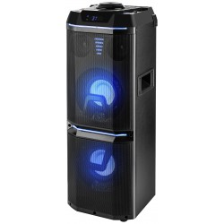 Domowy zestaw audio GoGEN BPS 738 Party Speaker, 2x80W, Karaoke, Bluetooth, FM, USB, AUX, LED, Czarny