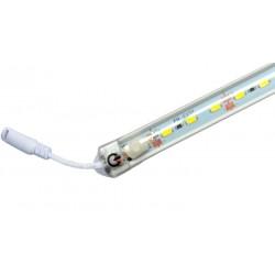 Listwa LED, 63 SMD 5630, 12V/18W, barwa ciepła, dł. 90cm z włącznikiem!