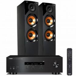 Zestaw stereofoniczny Yamaha R-S202D z Bluetooth, tunerem DAB + kolumny Pure Acoustics Nova 6