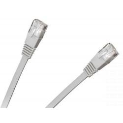 Patchcord, kabel płaski UTP 8c wtyk-wtyk 2.0m CCA biały cat.6e (KPO2293-2.0)