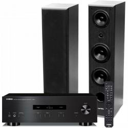 Zestaw stereofonicznyYamaha A-S201 + kolumny podłogowe Tonsil model MAESTRO II 180