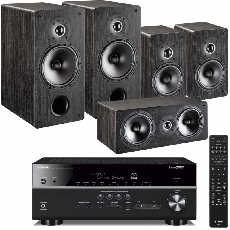 Zestaw kina domowego Yamaha RX-V685 z MusicCast + kolumny Indiana Line Tesi 261 x2, Tesi 241 x2, Tesi 761 x1