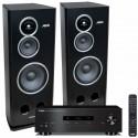 Zestaw stereofoniczny Yamaha A-S201 + gramofon TEAC TN-350 + kolumny Tonsil Altus 280