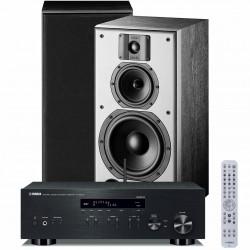 Zestaw stereofoniczny Yamaha R-N303D + kolumny podstawkowe Indiana Line DJ 308, z MusicCast, Bluetooth, DAB+, system 2.0