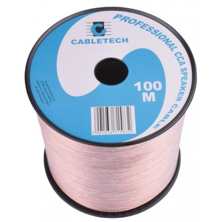 Kabel, przewód głośnikowy CCA 2 x 0.20mm CABLETECH (KAB0351) - 1mb