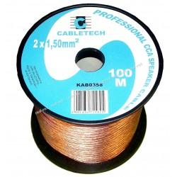 Kabel, przewód głośnikowy CCA 2 x 1.50mm CABLETECH (KAB0358) - 1 mb