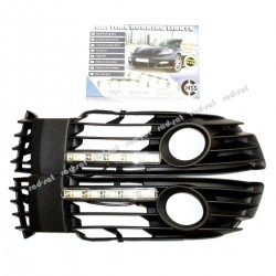 Światła do jazdy dziennej VW Passata B5 od 2001-, z maskownicami (maskownica z przeciwmgielnymi)