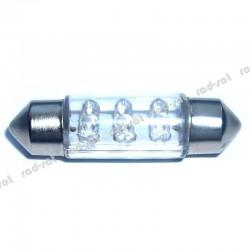 Żarówka diodowa rurkowa 6 diod LED 36mm C5W