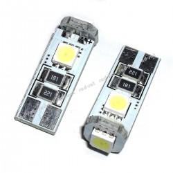 Żarówka diodowa samochodowa LED Vertex W5W T10 3xSMD 5050 Biała, cena za parę czyli za dwie sztuki!