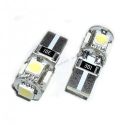 Żarówka diodowa samochodowa LED Vertex W5W T10 5xSMD 5050 Biała, cena za parę czyli za dwie sztuki!