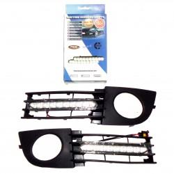 Światła do jazdy dziennej AUDI A6 C5 po 2000r z maskownicami (maskownica z przeciwmgielnymi)