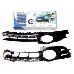 Światła do jazdy dziennej AUDI A6 C6 2004-2008r Diesel z maskownicami (maskownica z przeciwmgielnymi)