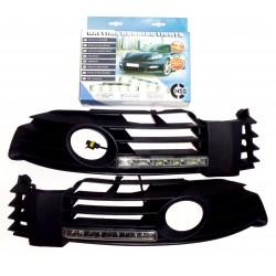 Światła do jazdy dziennej VW Passat C/F 2001-2005r z maskownicami (maskownica z przeciwmgielnymi)