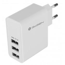 Ładowarka sieciowa USB GoGEN ACH 300, 3x USB, 3,1A (GOGACH300) Biała