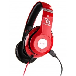 Słuchawki GoGEN HBTM 41RR Bluetooth, Tuner FM, mikrofon, składane, Czerwone