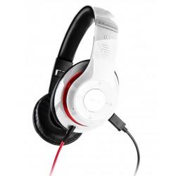 Słuchawki GoGEN HBTM 41WR Bluetooth, Tuner FM, mikrofon, składane, Białe