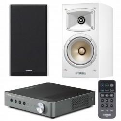 Zestaw stereofoniczny Yamaha z systemem MusicCast, wzmacniacz WXA-50 + kolumny NS-B330 białe