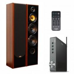 Zestaw stereofoniczny Yamaha z systemem MusicCast, wzmacniacz WXA-50 + kolumny głośnikowe Tonsil Fenix III