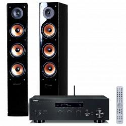 Zestaw stereofoniczny Yamaha, amplituner stereo R-N303D + kolumny głośnikowe Pure Acoustics Nova 8