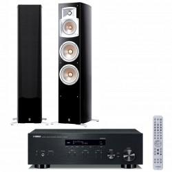 Wieża stereo Yamaha R-N303D + kolumny głośnikowe Yamaha NS-555, Hi-End z MusicCast i tunerem DAB+