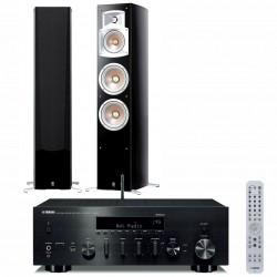Wieża stereo Yamaha R-N803D + kolumny głośnikowe Yamaha NS-555, z MusicCast, AirPlay, DLNA i tunerem DAB+
