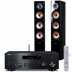 Zestaw stereofoniczny Yamaha, amplituner stereo R-N602 MusicCast + kolumny głośnikowe Pure Acoustics Nova 8