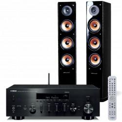 Zestaw stereo Yamaha R-N803D + kolumny głośnikowe Pure Acoustics Nova 8, z MusicCast, AirPlay, DLNA i tunerem DAB+