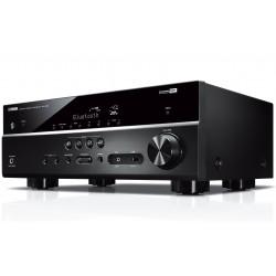 Amplituner kina domowego Yamaha RX-V385, z dwukierunkowym Bluetooth, skalowaniem do 4K oraz obsługą HDR10 i Dolby Vision
