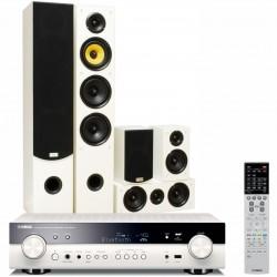 Zestaw kina domowego Yamaha RX-S601D biały + Taga Harmony TAV-506 Białe, system 5.0