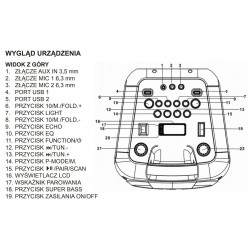 Przenośny głośnik GoGEN BPS686X z Bluetooth i funkcją Karaoke