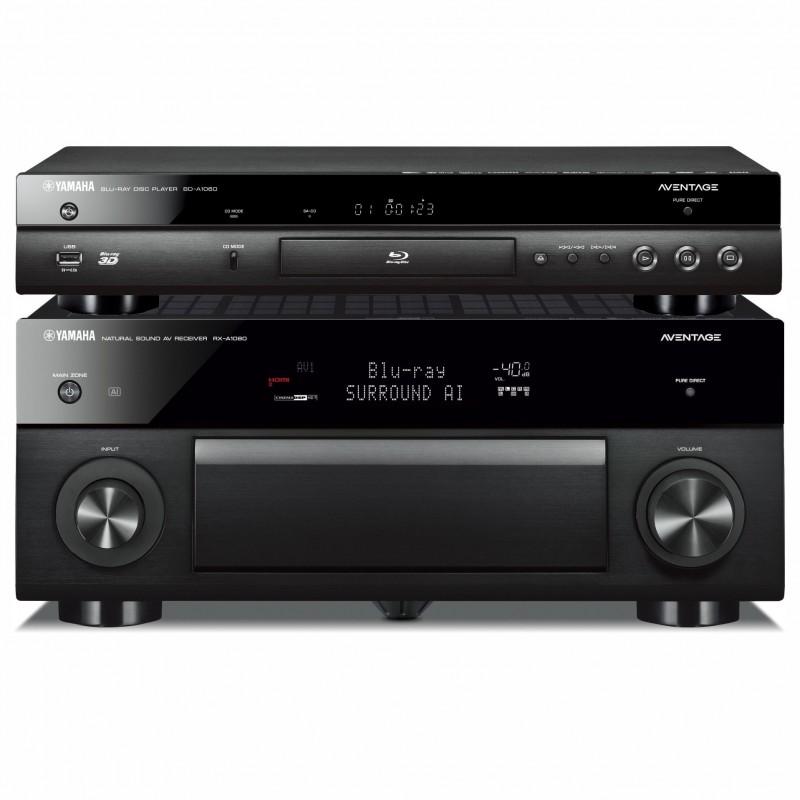 Zestaw kina domowego Yamaha BD-A1060 + RX-A2080 Aventage z MusicCast