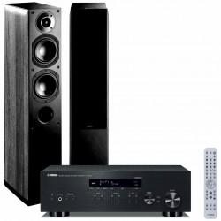 Zestaw stereofoniczny Yamaha R-N303D + kolumny Indiana Line Nota 550