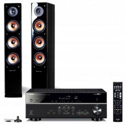 Zestaw stereofoniczny Yamaha HTR-4072 (RX-V485) + kolumny Pure Acoustics Nova 8, system 2.0