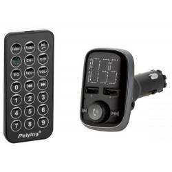 Transmiter samochodowy z funkcją Bluetooth (2x gniazdo USB) URZ0465