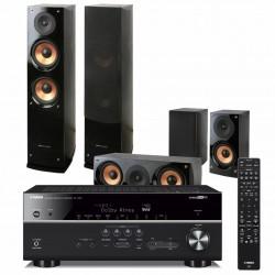 Zestaw kina domowego Yamaha RX-V685 z Bluetooth, MusicCast + kolumny Pure Acoustics Nova 6